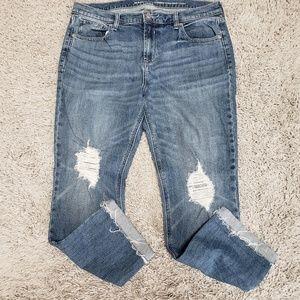 [Old Navy] Boyfriend Straight Distressed Jeans